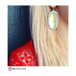 Kendra Scott Clear Iridescent Danielle Earrings